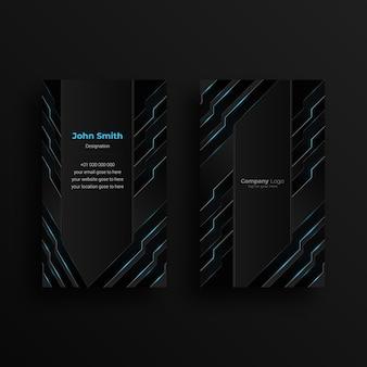 Plantilla de diseño de tarjeta de visita creativa con diseño futurista