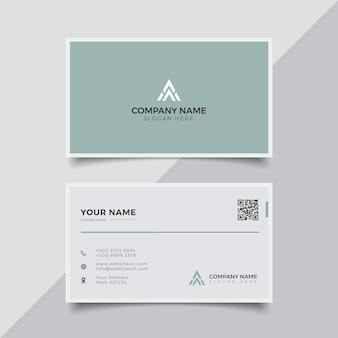 Plantilla de diseño de tarjeta de visita creativa moderna elegante profesional