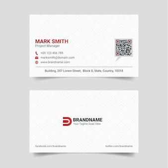 Plantilla de diseño de tarjeta de visita creativa roja y blanca