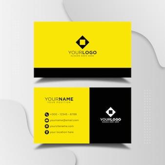 Plantilla de diseño de tarjeta de visita elegante profesional