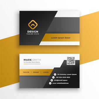 Plantilla de diseño de tarjeta de visita de estilo geométrico abstracto