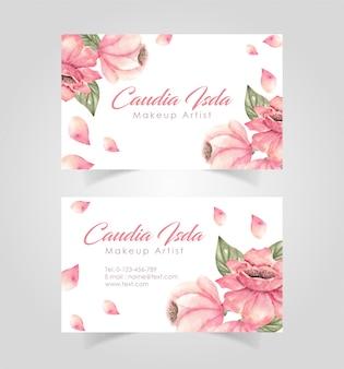 Plantilla de diseño de tarjeta de visita floral