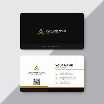 Plantilla de diseño de tarjeta de visita moderna creativa elegante profesional