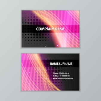 Plantilla de diseño de tarjeta de visita moderna oscura abstracta