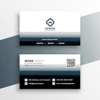Plantilla de diseño de tarjeta de visita moderna