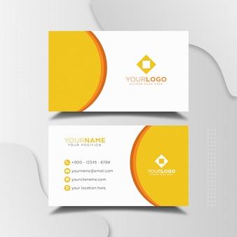 Plantilla de diseño de tarjeta de visita profesional amarilla