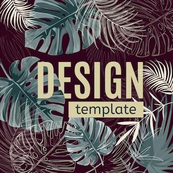 Plantilla de diseño tropical.