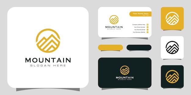 Plantilla de diseño de vector de logotipo de montaña