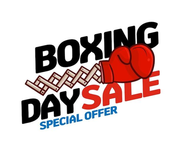 Plantilla de diseño de venta de boxing day divertida para oferta especial
