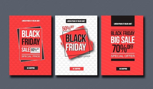 Plantilla de diseño de venta de viernes negro. diseño conceptual para banner e impresión.