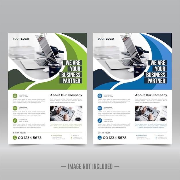 Plantilla de diseño de volante de cartel corporativo