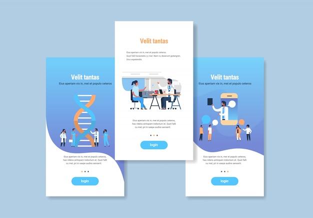 Plantilla de diseño web establece conceptos de medicina colección médica diferente