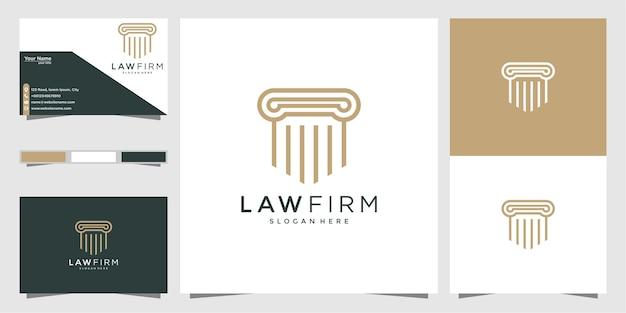 Plantilla de diseños de logotipo de pilar de lujo, logotipo de tarjeta de visita