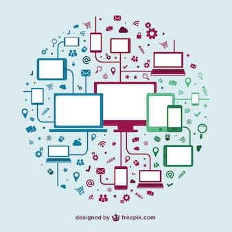 Plantilla de dispositivos tecnológicos