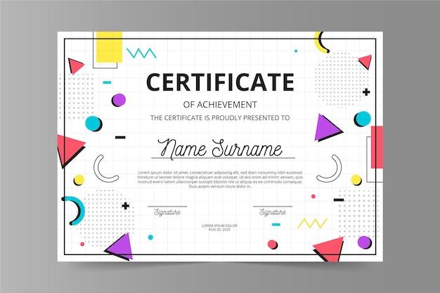 Plantilla de documento de diploma