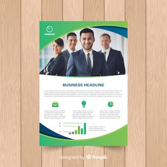 Plantilla de documento de negocios con imagen