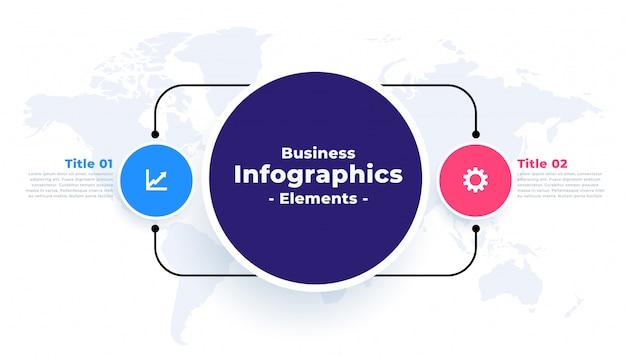 Plantilla de dos pasos para conectar infografía