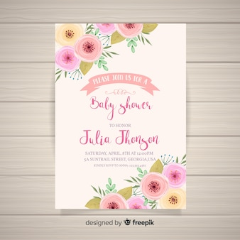 Invitacion Baby Shower Fotos Y Vectores Gratis
