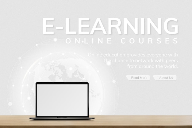 Plantilla de e-learning tecnología futura