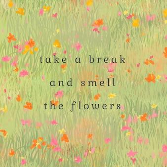 Plantilla editable de cita inspiradora en tema de flores de verano