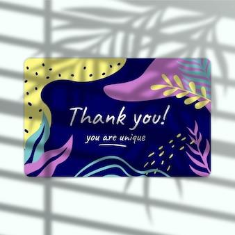 Plantilla editorial de etiqueta de agradecimiento