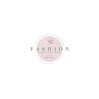 Plantilla editorial de logotipo de moda
