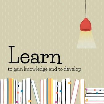 Plantilla de educación aprender a adquirir conocimientos y a desarrollar