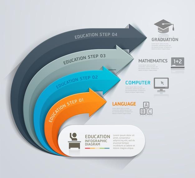 Plantilla de educación flecha moderna.