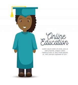 Plantilla de educación en línea