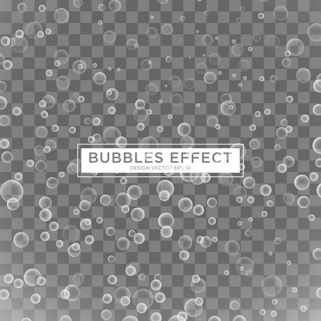Plantilla de efecto burbujas realistas