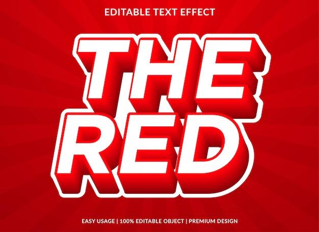 Plantilla de efecto de texto en 3d con estilo retro y texto en negrita