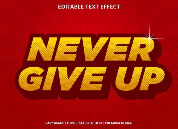 Plantilla de efecto de texto 3d