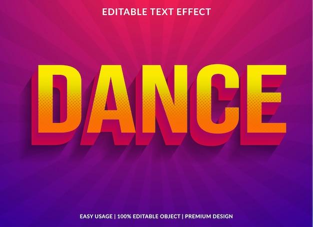 Plantilla de efecto de texto de baile con estilo retro y texto en negrita
