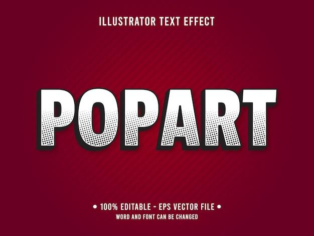 Plantilla de efecto de texto editable estilo pop de semitono minimalista