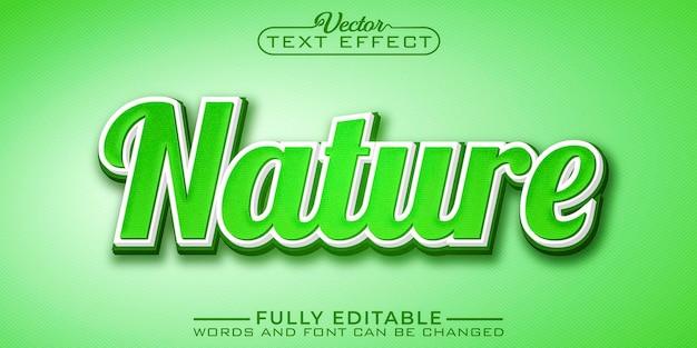 Plantilla de efecto de texto editable de nature fresh