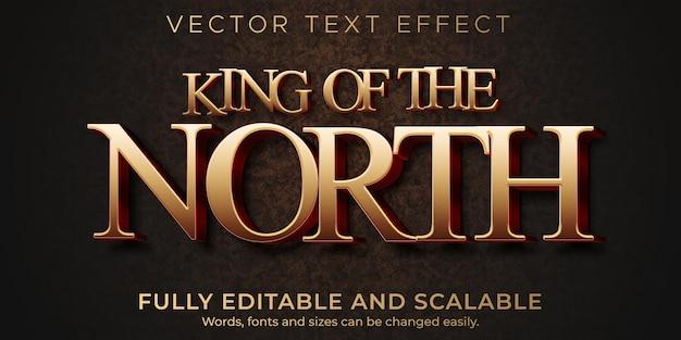 Plantilla de efecto de texto épico rey