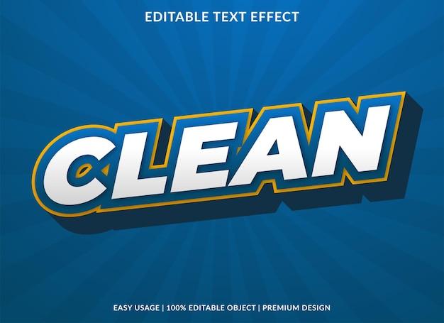 Plantilla de efecto de texto limpio estilo premium