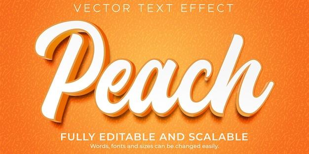 Plantilla de efecto de texto de melocotón naranja