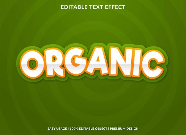 Plantilla de efecto de texto orgánico estilo premium