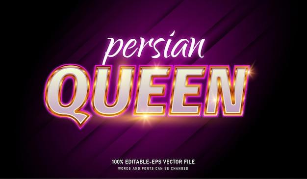 Plantilla de efecto de texto reina persa