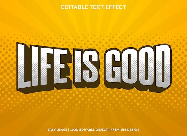 Plantilla de efecto de texto vintage