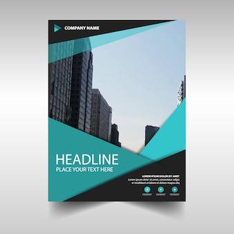 Plantilla elegante azul claro de reporte anual corporativo