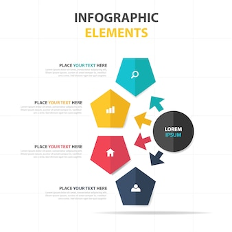 Plantilla elegante creativa infográfica de negocios
