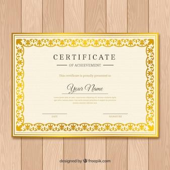 Plantilla elegante de certificado