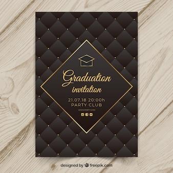 Plantilla elegante de invitación de graduación