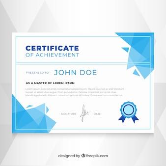 Plantilla elegante de diploma