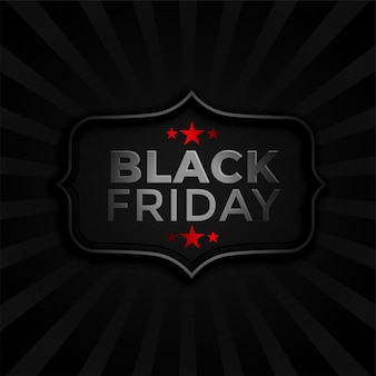 Plantilla elegante de fondo oscuro de viernes negro vector gratuito