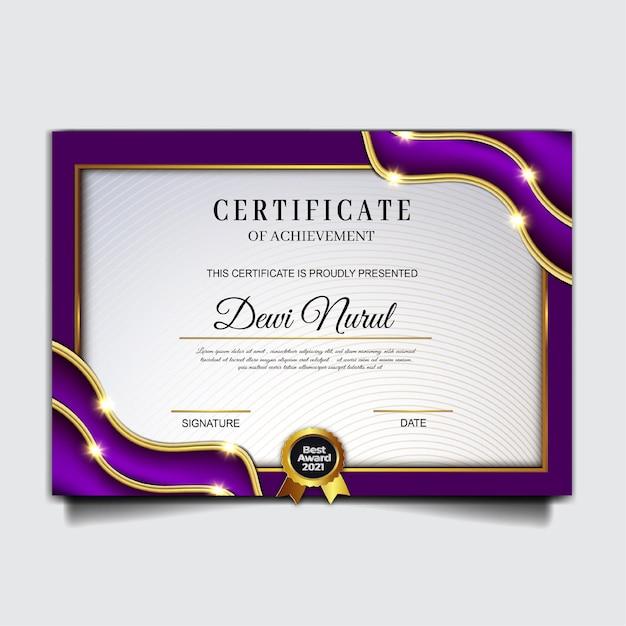 Plantilla elegante de logro de certificado