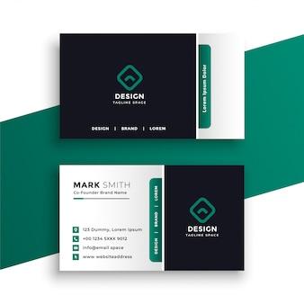Plantilla elegante profesional del diseño de la tarjeta de visita
