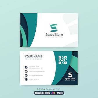 Plantilla elegante profesional de la tarjeta de visita con las tiras del logotipo